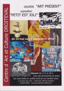affiche expo Petit est Joli